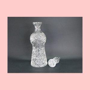 Decantador de cristal antropormorfo
